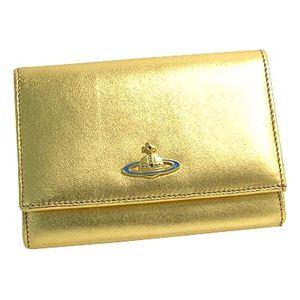 Vivienne Westwood(ヴィヴィアン ウエストウッド) 二つ折り財布(小銭入れ付) NAPPA 746 ゴールド - 拡大画像