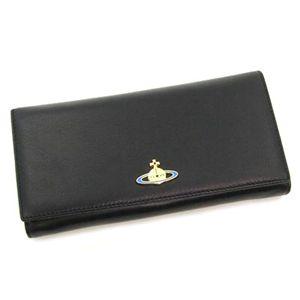 Vivienne Westwood(ヴィヴィアン ウエストウッド) 長札財布 NAPPA 1032 ブラック/ゴールド - 拡大画像