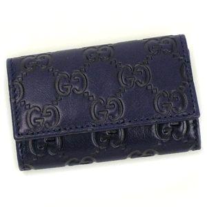 GUCCI(グッチ) キーケース 138093 BASIC KEY-CASE ブルー - 拡大画像