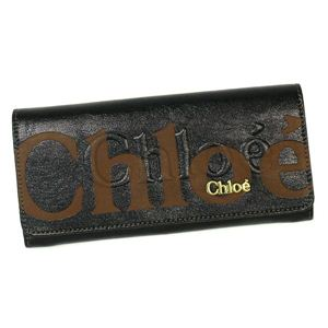 CHLOE(クロエ) 長財布 ECLIPSE 3PO303 LONG WALLET WITH FLAP BLACK - 拡大画像
