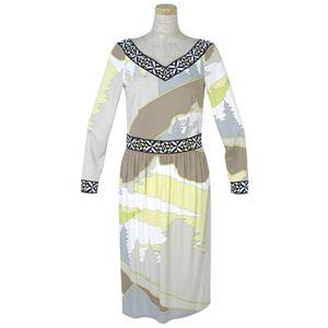 Emilio Pucci(エミリオプッチ) ドレス 87RH45 321882 ブラウン - 拡大画像