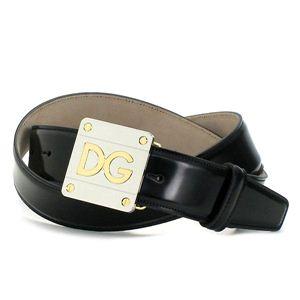 Dolce&Gabbana(ドルチェ&ガッバーナ) ベルト BC2493 QUADRATA BICOLOR LO ブラック 100 - 拡大画像