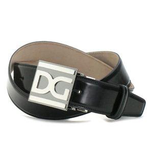 Dolce&Gabbana(ドルチェ&ガッバーナ) ベルト BC2500 QUADRATA MONOCOLO ブラック 100 - 拡大画像