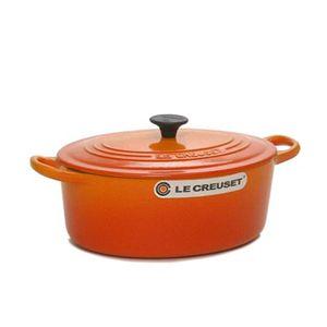 Le Creuset(ル クルーゼ) キッチン・鍋・パン ココットオーバル25cm2502-25 オレンジ - 拡大画像