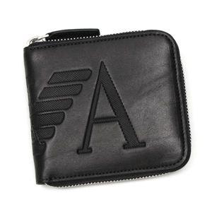 Emporio Armani(エンポリオ・アルマーニ) 二つ折り財布(小銭入れ付) YEM475 ブラック - 拡大画像