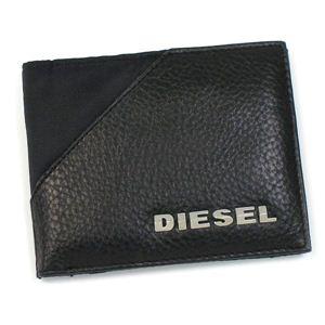 DIESEL(ディーゼル) 二つ折り財布(小銭入れ付) NEW GENERATION 00XG86 NEW BENNY H1645 ブラック - 拡大画像