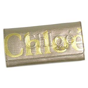 Chloe(クロエ) 長財布 ECLIPSE 3PO303 Long wallet with flap 19E ベージュ/ゴールド - 拡大画像