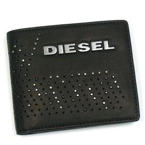 DIESEL(ディーゼル) 二つ折り財布(小銭入れ付) PERF-VIBE 00XM89 PERF-FERISH SMALL T8013 ブラック - 拡大画像