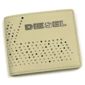 DIESEL(ディーゼル) 二つ折り財布(小銭入れ付) PERF-VIBE 00XM89 PERF-FERISH SMALL T8036 ホワイト - 拡大画像