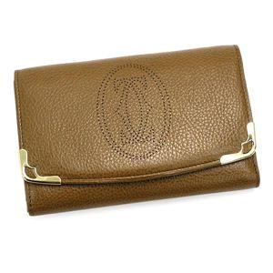 Cartier(カルティエ) 二つ折り財布(小銭入れ付) MARCELLO L3000816 キャメル - 拡大画像