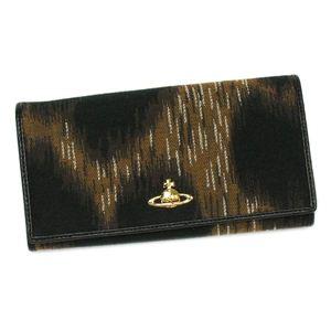 Vivienne Westwood(ヴィヴィアンウエストウッド) 長財布 LEOPARD 1032 ブラック/ブラウン - 拡大画像