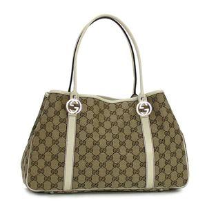 Gucci(グッチ) トートバッグ GG TWINS 232957 GG TWINS 9761 ベージュ/ホワイト - 拡大画像