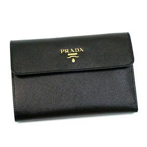 Prada(プラダ) 三つ折り財布(小銭入れ付) SAFFIANO MULTICOLOR 1M0510 F0002 ブラック/レッド - 拡大画像