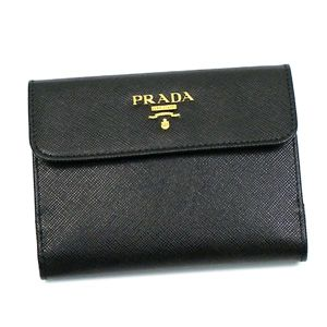 Prada(プラダ) Wホック財布 SAFFIANO MULTICOLOR 1M0523 F0002 ブラック/レッド - 拡大画像