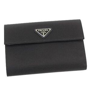 Prada(プラダ) 三つ折り財布(小銭入れ付) TESSUTO 1M0510 F0002 ブラック - 拡大画像