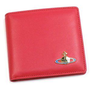 Vivienne Westwood(ヴィヴィアンウエストウッド) 二つ折り財布(小銭入れ付) NAPPA 730 ピンク/ゴールド - 拡大画像