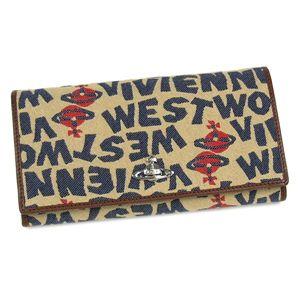 Vivienne Westwood(ヴィヴィアンウエストウッド) 長財布 STONEAGE 1032 ベージュ - 拡大画像