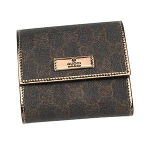 Gucci(グッチ) 二つ折り財布(小銭入れ付) JOY 190338 MINI WALLET 1003 ブラック/ブラウン - 拡大画像