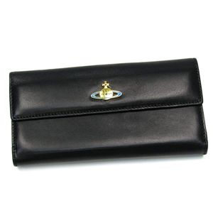 Vivienne Westwood(ヴィヴィアンウエストウッド) 長財布 NAPPA 2801 ブラック/ゴールド - 拡大画像