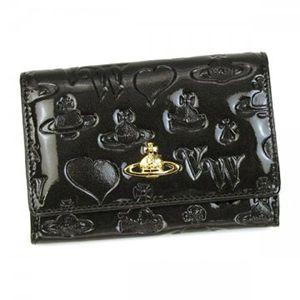 Vivienne Westwood(ヴィヴィアンウエストウッド) 二つ折り財布(小銭入れ付) EBURY CROSTA 746V  グレー H9.5×W13.5×D2.5 - 拡大画像