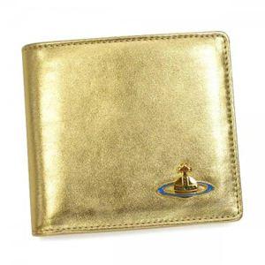 Vivienne Westwood(ヴィヴィアンウエストウッド) 二つ折り財布(小銭入れ付) NAPPA 730V  ゴールド H10.5×W11×D2.5 - 拡大画像