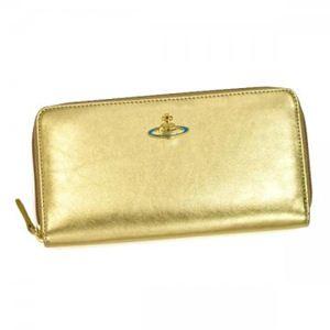 Vivienne Westwood(ヴィヴィアンウエストウッド) 長財布 NAPPA 5140V  ゴールド H10×W19×D2.5 - 拡大画像