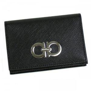 Ferragamo(フェラガモ) カードケース GANCINI ICONA VITELL 22A552 395229 ブラック H7.5×W11×D2 - 拡大画像