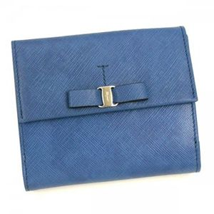 Ferragamo(フェラガモ) Wホック財布 VARA ICONA 22A951 434070 ブルー H10×W12×D2.5 - 拡大画像