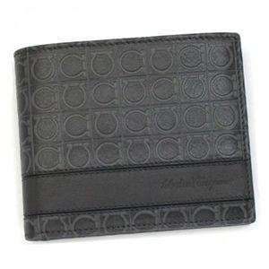 Ferragamo(フェラガモ) 二つ折り財布(小銭入れ付) MENS SLG GAMMA 668734 442284 グレー H9.5×W12×D2 - 拡大画像