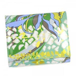 Emilio Pucci(エミリオプッチ) 二つ折り財布(小銭入れ付) 11SM71 21 ライトグリーン - 拡大画像