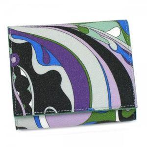 Emilio Pucci(エミリオプッチ) 二つ折り財布(小銭入れ付) 11SM73 19 グリーン - 拡大画像