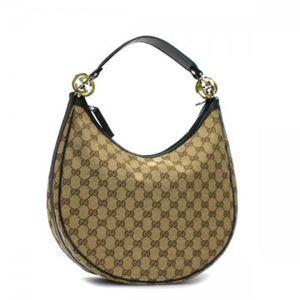 Gucci(グッチ) ホーボー GG TWINS 232962 9769 ブラック/ベージュ (H24×W33×D11) - 拡大画像