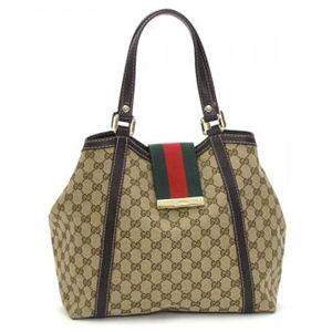 Gucci(グッチ) トートバッグ NEW LADIES WEB 233607 9793 ブラウン/ダークブラウン (H25(C)×W26/34×D15) - 拡大画像