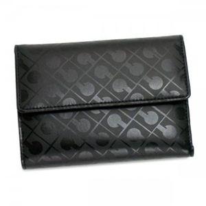 Gherardini(ゲラルディーニ) 三つ折り財布(小銭入れ付) SOFTY BASICO BS09 1 ブラック (H10×W13.5×D2.5) - 拡大画像