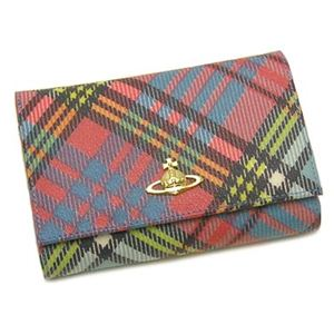 Vivienne Westwood(ヴィヴィアンウエストウッド) 二つ折り財布(小銭入れ付) DERBY 2232V (H10×W14.5×D3.5) - 拡大画像