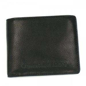 Calvin Klein(カルバンクライン) 二つ折り財布(小銭入れ付) CCI100 999 ブラック - 拡大画像