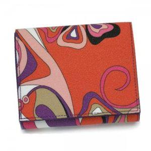 Emilio Pucci(エミリオプッチ) 二つ折り財布(小銭入れ付) 11SM73 18 パープル - 拡大画像