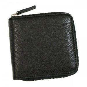 GIORGIO ARMANI(ジョルジオアルマーニ) 二つ折り財布(小銭入れ付) YAM189 88462 ブラック/ブラウン - 拡大画像