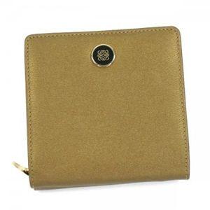 Loewe(ロエベ) 二つ折り財布(小銭入れ付) ANAGRAM SIGNATURE 118.30.A53  ゴールド - 拡大画像