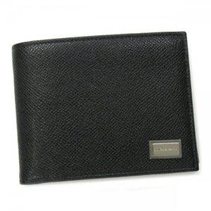 DOLCE&GABBANA(ドルチェアンドガッバーナ) 二つ折り財布(小銭入れ付)  BP0457 80999 ブラック - 拡大画像