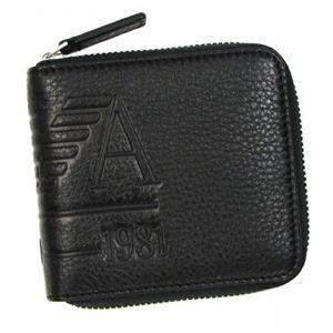 EMPORIO ARMANI(エンポリオアルマーニ) 二つ折り財布(小銭入れ付) LINEA ANGAR YEM475 80001 ブラック - 拡大画像