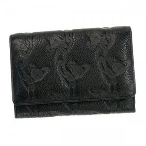 Vivienne Westwood(ヴィヴィアンウエストウッド) 二つ折り財布(小銭入れ付) CHAIN ORB 746V ブラック - 拡大画像