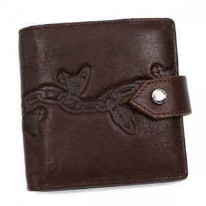 Vivienne Westwood(ヴィヴィアンウエストウッド) 二つ折り財布(小銭入れ付) MAN CHAIN ORB 2814 ダークブラウン - 拡大画像