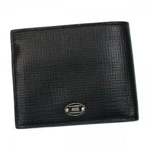 GIORGIO ARMANI(ジョルジオアルマーニ) 二つ折り財布(小銭入れ付) ARMANI COLLEZIONI YAM005 88147 ブラック/グリーン - 拡大画像