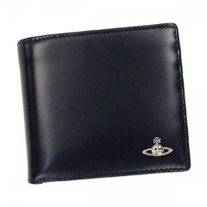 Vivienne Westwood(ヴィヴィアンウエストウッド) 二つ折り財布(小銭入れ付) MAN BICOLORED 33016 BLU VAVY - 拡大画像