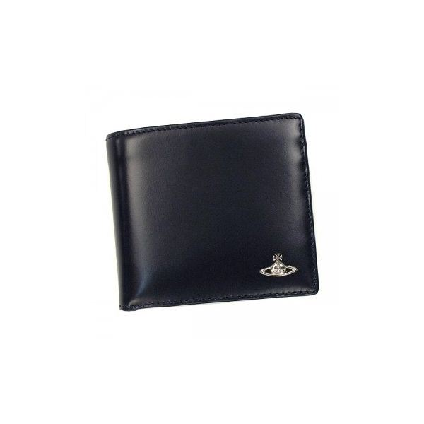 Vivienne Westwood(ヴィヴィアンウエストウッド) 二つ折り財布(小銭入れ付) MAN BICOLORED 33016 BLU VAVY