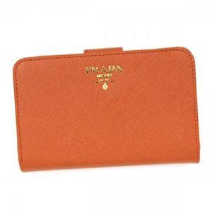 Prada(プラダ) 二つ折り財布(小銭入れ付) 1M1225 F0S73 PAPAYA - 拡大画像