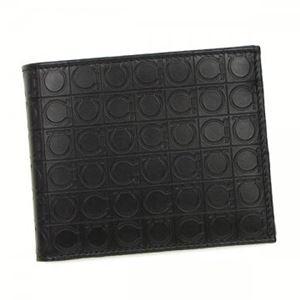 Ferragamo(フェラガモ) 二つ折り財布(小銭入れ付) 669407 568274 DEEP BLACK - 拡大画像