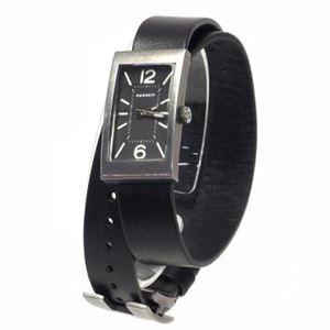 HAMNETT(ハムネット) 時計 HA310335 35 オールドアンチシルバー(ケース) ブラック(文字盤)
