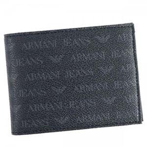 ARMANI JEANS(アルマーニジーンズ) 二つ折り財布(小銭入れ付) 938538 20 NERO - 拡大画像